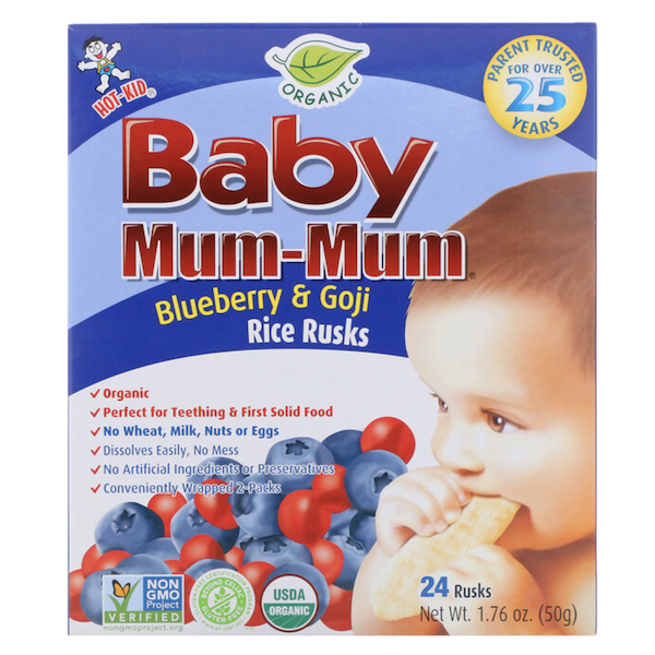 BABY MUM MUM ORGANIC BLUEBERRY and GOJI RICE RUSKS