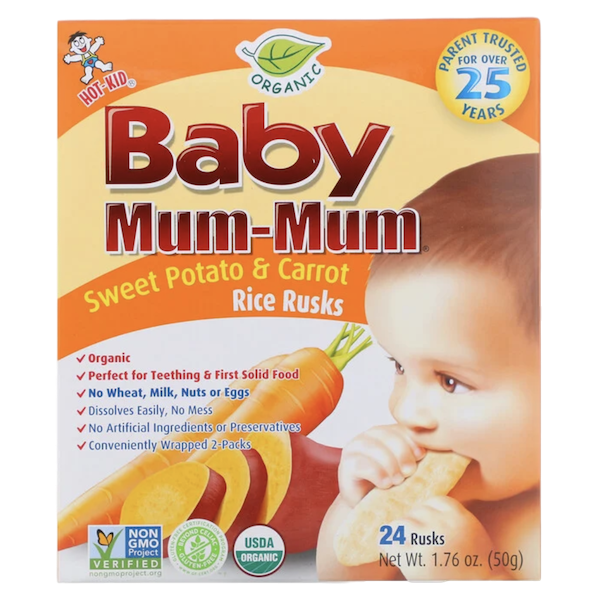 BABY MUM MUM ORGANIC SWEET POTATO CARROT RICE RUSKS