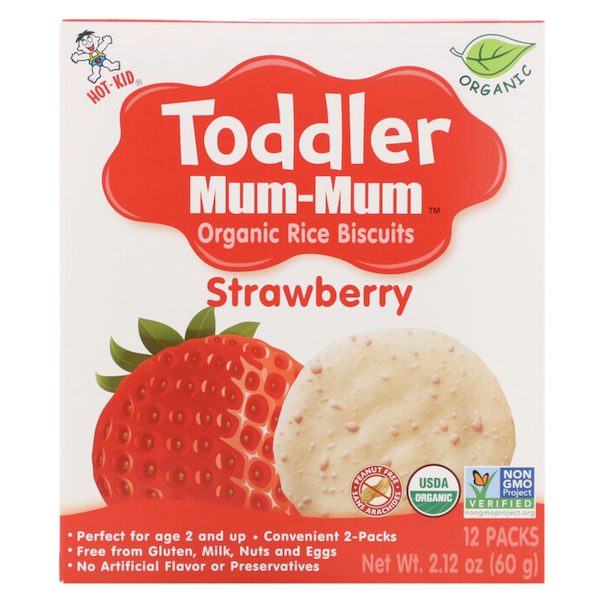 TODDLER MUM MUM ORGANIC STRAWBERRY RICE BISCUITS
