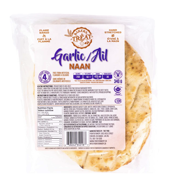 BAKERS TREAT GARLIC NAAN