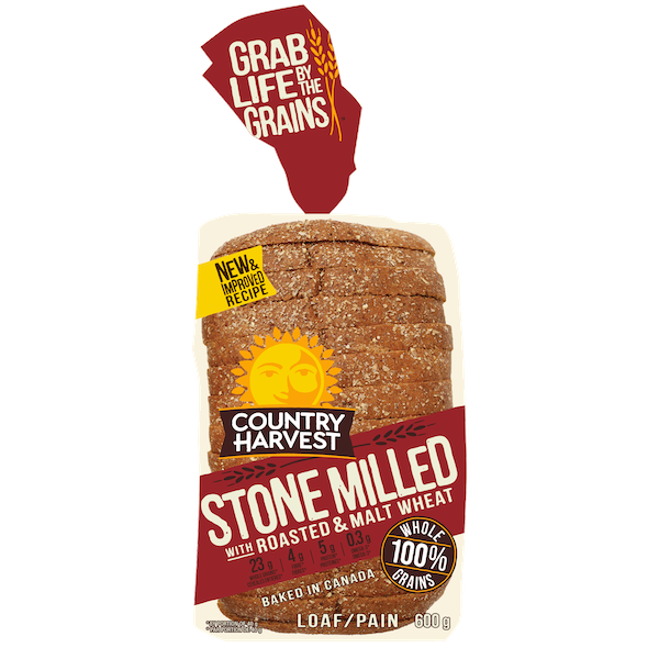 BREAD, STONE MILLED with ROASTED and MALT WHEAT