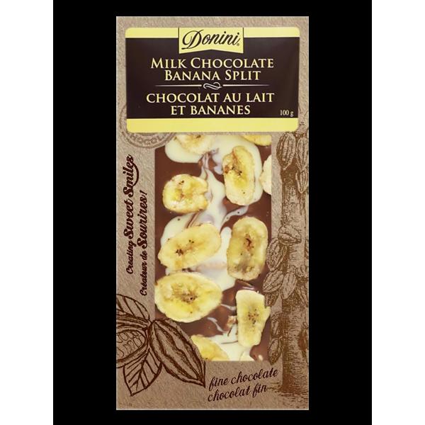 GOURMET MILK CHOCOLATE BANANA SPLIT