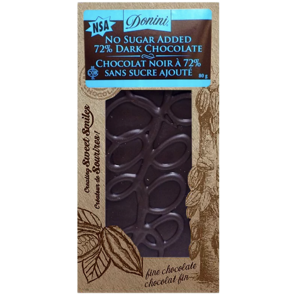 GOURMET 72% DARK NO SUGAR ADDED