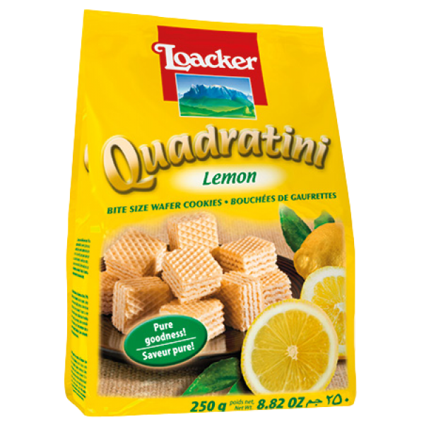 QUADRATINI LEMON BITE SIZE WAFERS