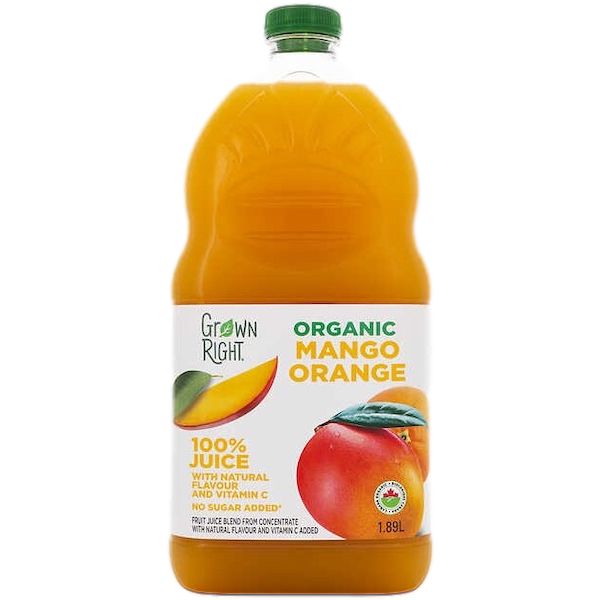 ORGANIC 100% MANGO ORANGE JUICE