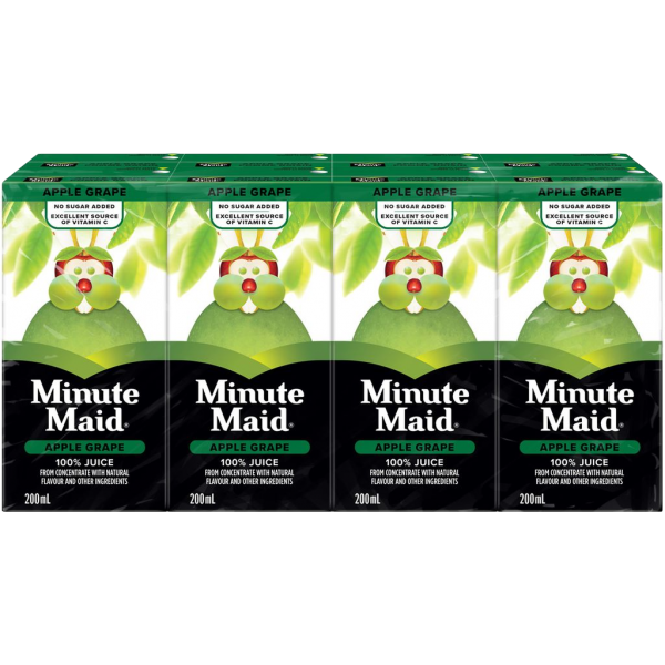 APPLE GRAPE JUICE BOXES 8 PACK