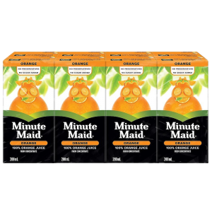 ORANGE JUICE BOXES 8 pack