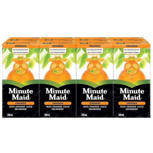 ORANGE JUICE BOXES 8 pack