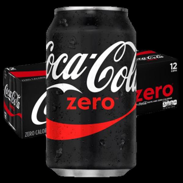 COKE ZERO SUGAR FREE 12 PACK CANS