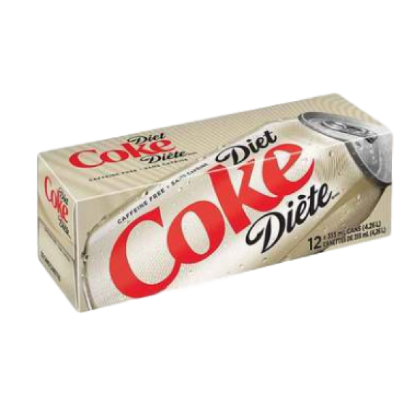 CAFFEINE FREE 12 PACK CANS
