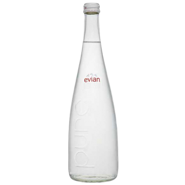 NATURAL MINERAL WATER, GLASS BOTTLE