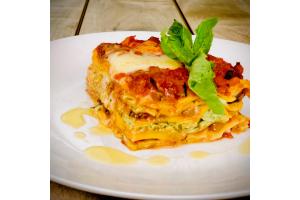 Ratatouille Lasagna with Spinach Ricotta & Pecorino