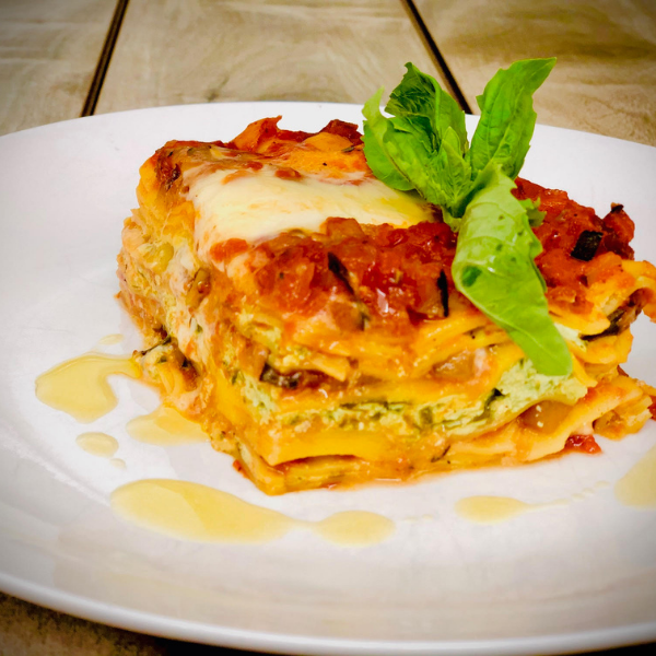 RATATOUILLE LASAGNA WITH SPINACH RICOTTA - 6-8 servings