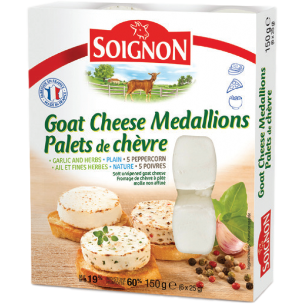 GOAT CHEESE MEDALLIONS GARLIC and HERB