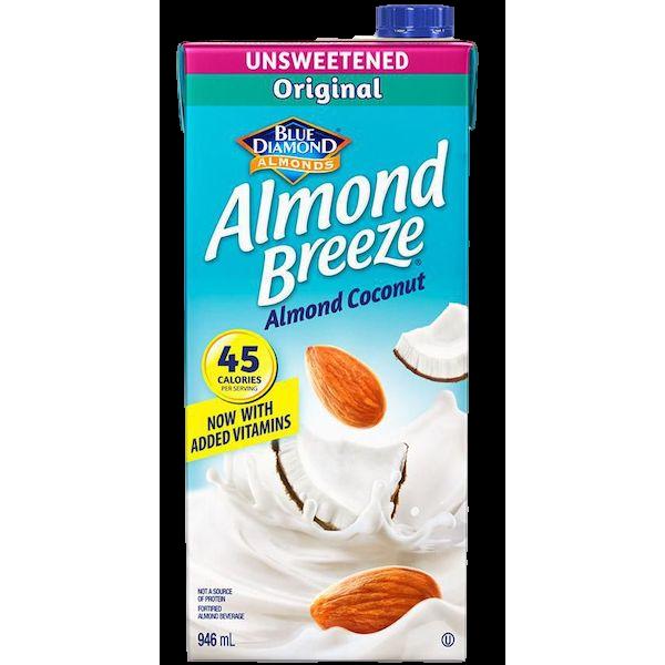 ALMOND BREEZE UNSWEETENED ALMOND COCONUT