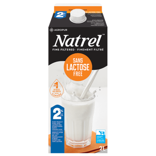 LACTOSE FREE FINE FILTERED 2% MILK 2L