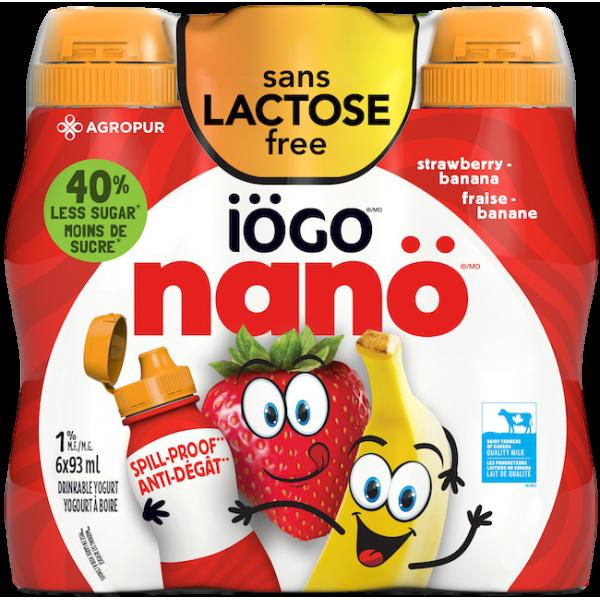 NANO LACTOSE FREE STRAWBERRY BANANA DRINKABLE YOGURT