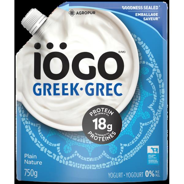 GREEK 0% PLAIN YOGURT POUCH