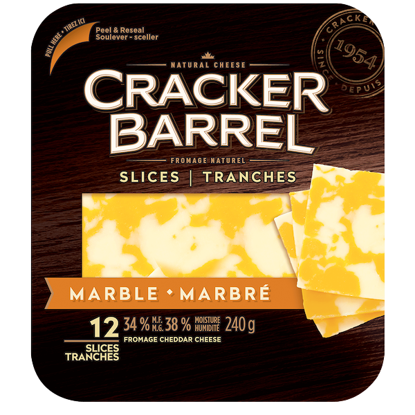 CHEDDAR CHEESE SLICES, MARBLE