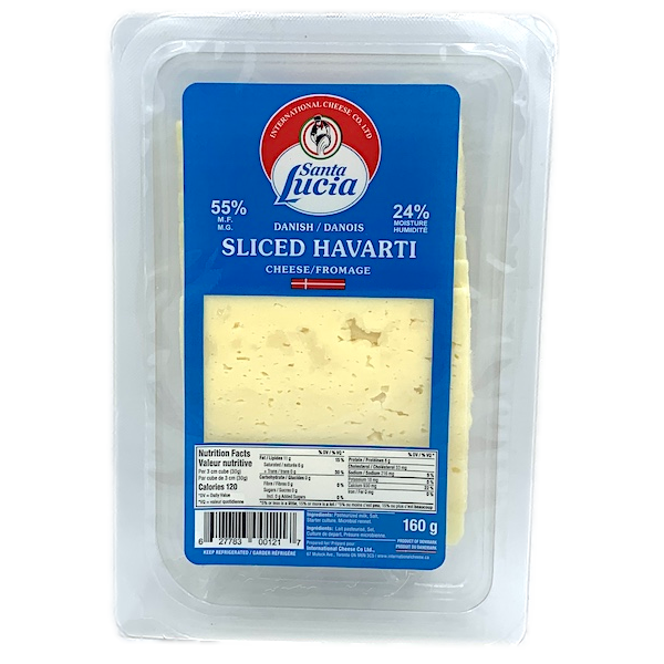 HAVARTI CHEESE SLICES, IMPORTED from DENMARK