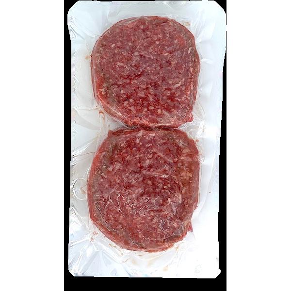LEAN GROUND BEEF BURGERS, 2 PACK