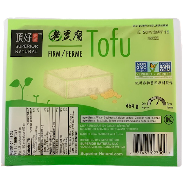 TOFU, FIRM IN WATER