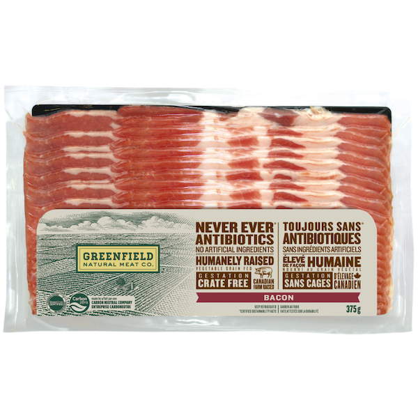 BACON, NEVER EVER ANTIBIOTICS