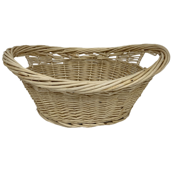 LARGE NATURAL WILLOW LAUNDRY BASKET