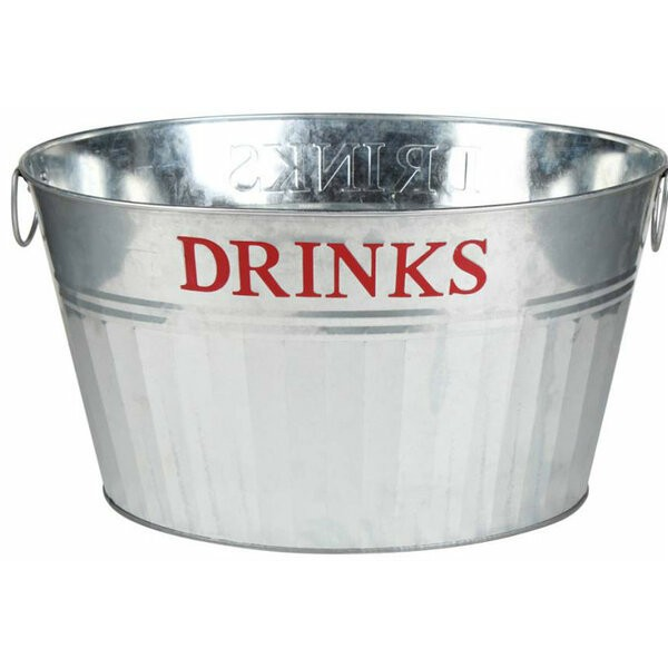 GALVANIZED OVAL PARTY DRINKS TUB
