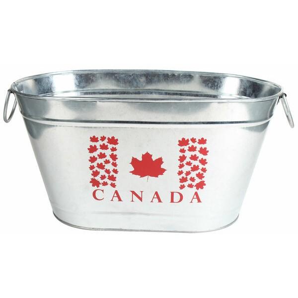 GALVANIZED OVAL PARTY CANADA TUB
