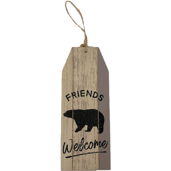 FRIENDS WELCOME PLAQUE