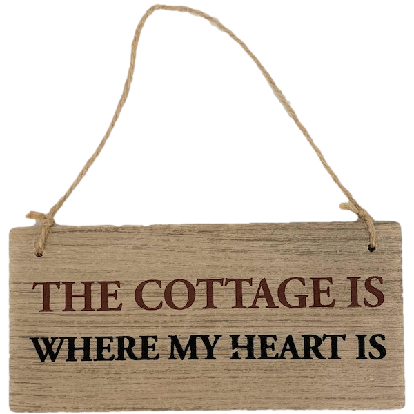 COTTAGE IS WHERE MY HEART IS PLAQUE
