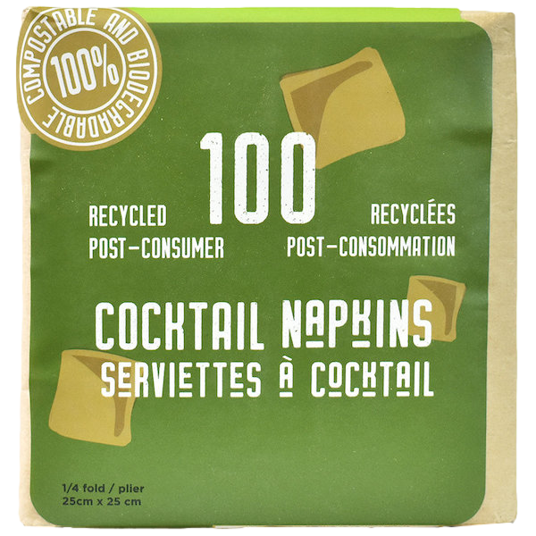 RECYCLED COCKTAIL PAPER NAPKINS