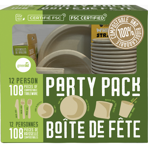 COMPOSTABLE PARTY PACK