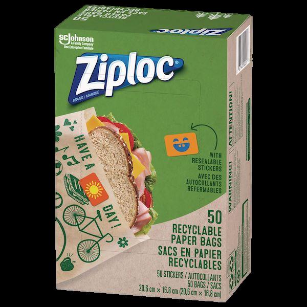 ZIPLOC 50 RECYCLABLE SANDWICH BAGS