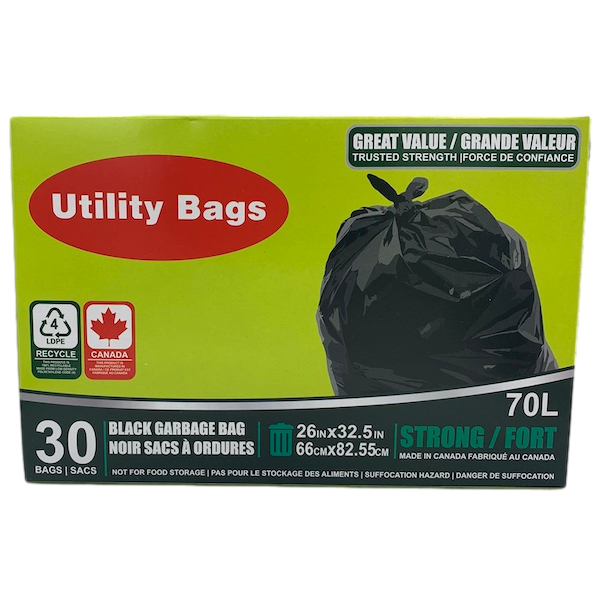 GARBAGE BAGS 26in x 32in