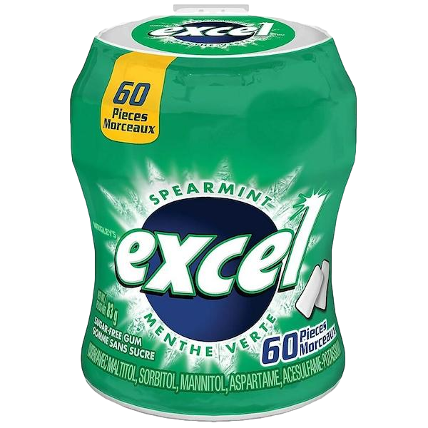 EXCEL SPEARMINT SUGAR FREE GUM