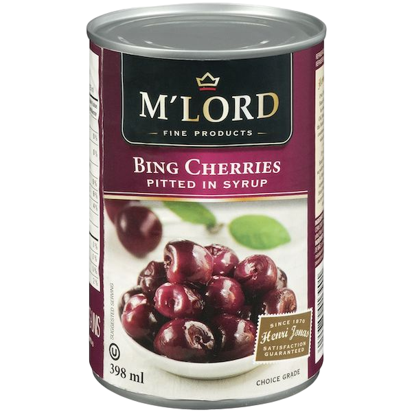 BING CHERRIES PITTED IN SYRUP