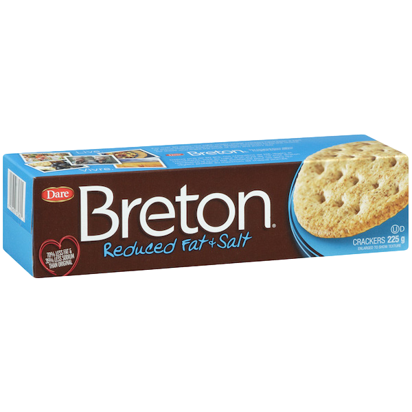 BRETON REDUCED FAT and SALT CRACKERS