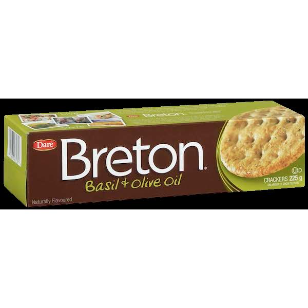 BRETON BASIL and OLIVE OIL CRACKERS