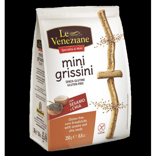 GLUTEN FREE MINI GRISSINI SESAME AND CHIA