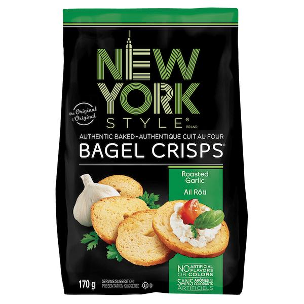 BAGEL CRISPS-ROASTED GARLIC