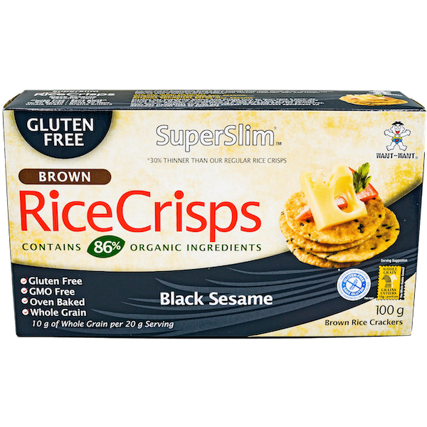 SUPERSLIM BLACK SESAME RICE CRISPS
