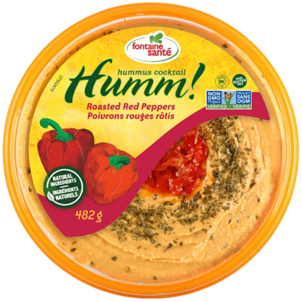 HUMMUS, ROASTED RED PEPPER FAMILY SIZE