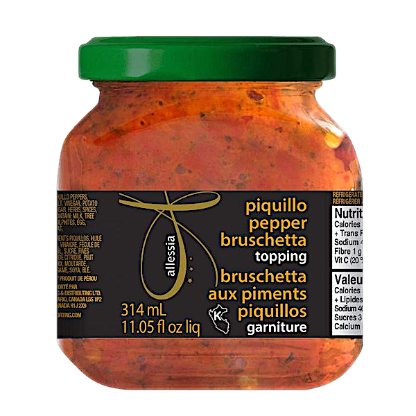 BRUSCHETTA SWEET PIQUILLO PEPPER  TOPPING