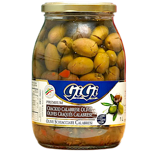 CALABRESE CRACKED OLIVES