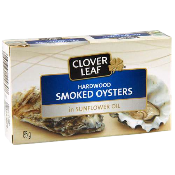 SMOKED OYSTERS in SUNFLOWER OIL