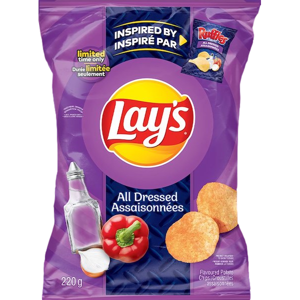 ALL DRESSED FLAVOURED POTATO CHIPS
