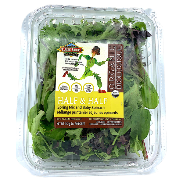 ORGANIC SPRING MIX BABY SPINACH MIX