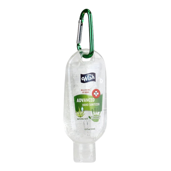 HAND SANITIZER ALOE with CARABINER